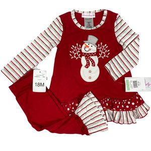 18M Baby Girl 2pc Holiday Top Leggings
